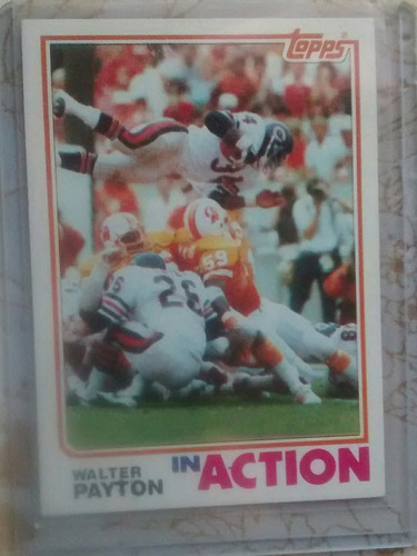 walter payton topps 1982 bears $5dls rnt