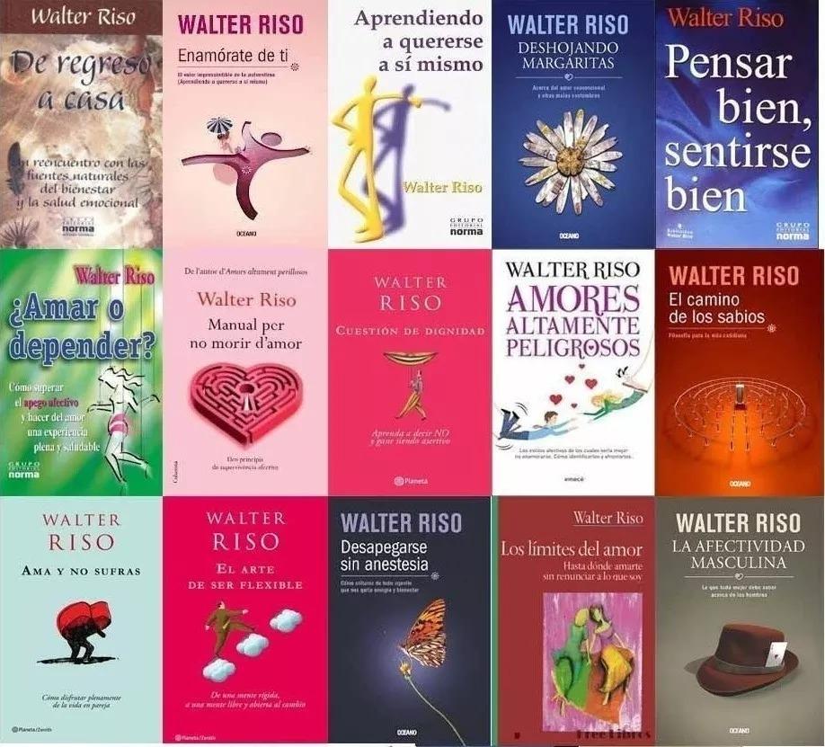 Walter Riso Todos Sus 36 Libros +guias Autoayuda - $ 80.00