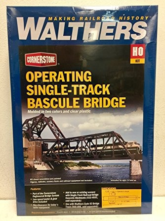 walthers scenemaster bascule bridge kit collectable train