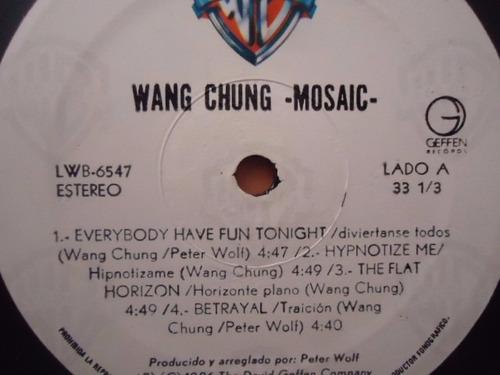 wang chung / mosaic vinyl lp acetato