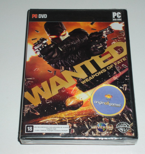wanted weapons of fate jogo pc mídia física original lacrado