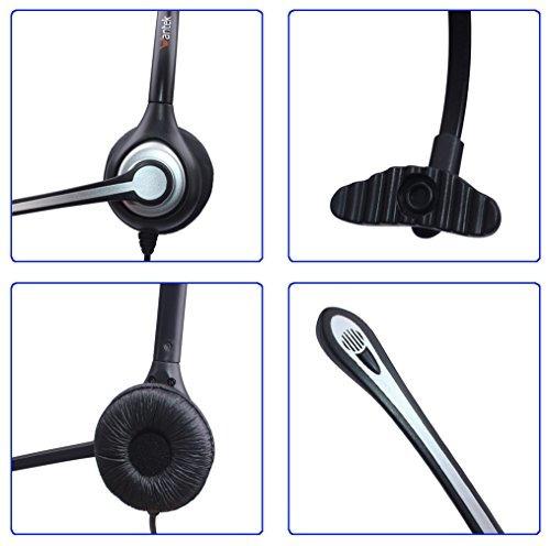 wantek auriculares con cancelación de ruido mic + desconexió