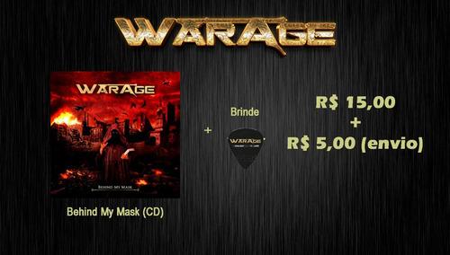 warage - cd behind my mask + brinde