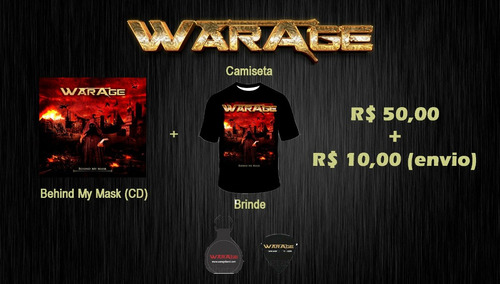 warage - cd behind my mask + camiseta + brinde