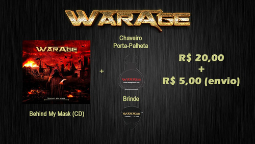 warage - cd behind my mask + chaveiro + brinde