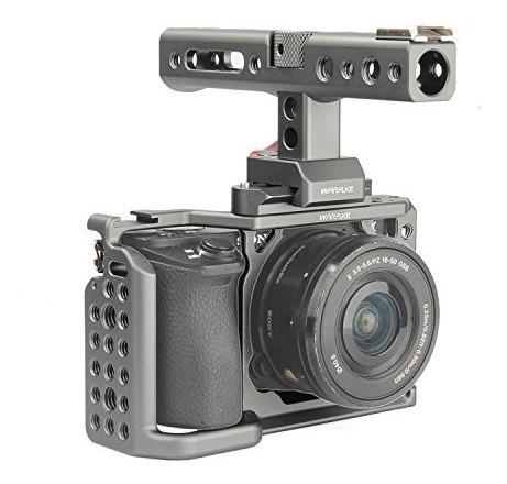 waraxe a6kit jaula de cámara para sony a6000a6300a6500il