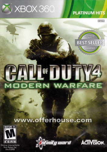 warfare xbox 360 call duty modern
