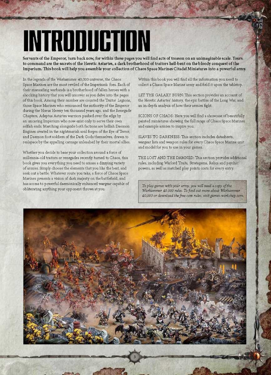 Warhammer 40k 8a Edicion Codex Chaos Space Marines 2017 pdf