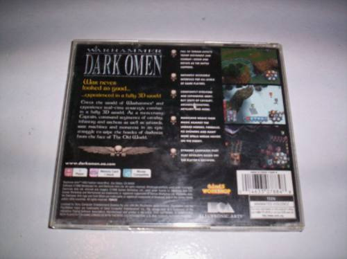 warhammer dark omen playstation de games workshop + completo