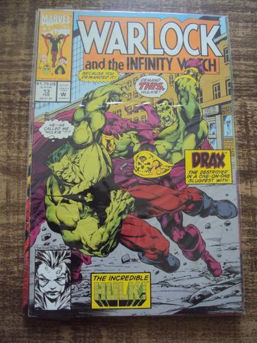 warlock and the infinity watch # 13 - drax versus hulk