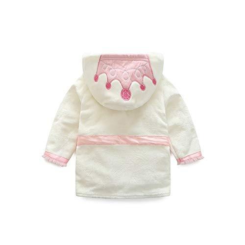 Unisex Boys Girls Long Sleeve Crown Printing Fleece Warm Bath Towel Pajamas Cloak Clothes WARMSHOP Baby Bathrobe