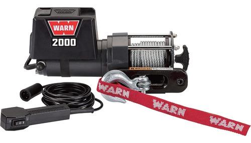 warn winche de servicio eléctrico de 12 voltios dc -2,000-lb