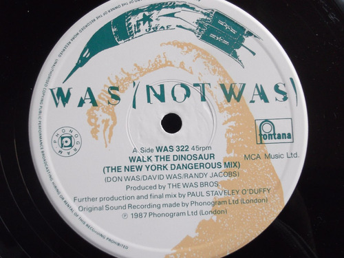 was (not was) -  walk the dinosaur - 3 tracks - uk
