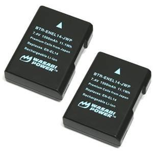 wasabi energía de la batería (2-pack) para nikon en-el14, en