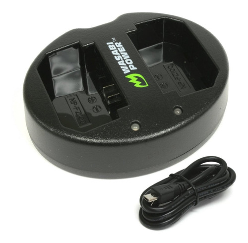 wasabi power cargador de batería para sony np-fz100, bc-q