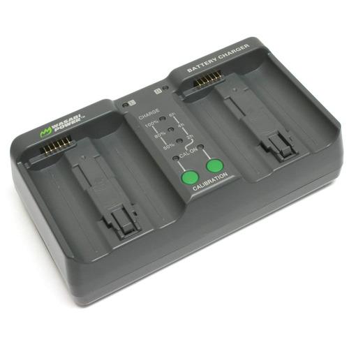 wasabi power dual cargador de batería para nikon mh-26, m