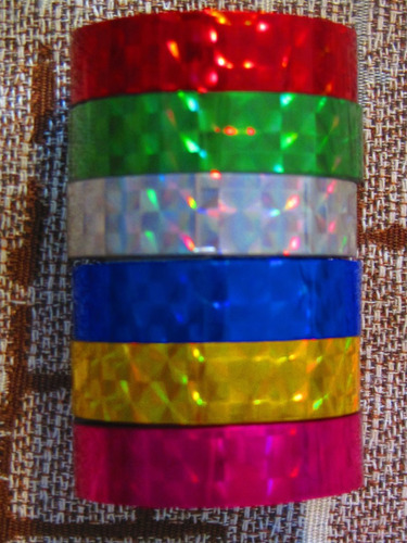 washi tape cinta adhesiva papel x 6 - colores brillantes