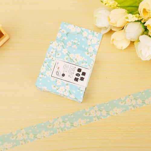 washi tape fita adesiva colorida e decorada spring sakura