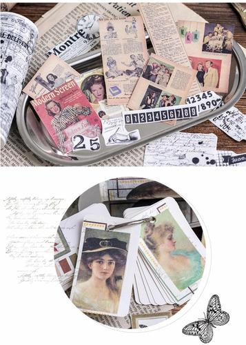 washi tape fita decorativa revista vintage