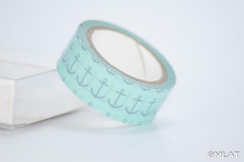 washi tape individual modelo ancla turqueza entera