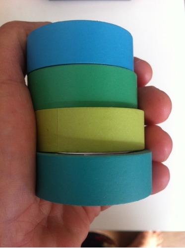 washi tape  lisas  várias cores