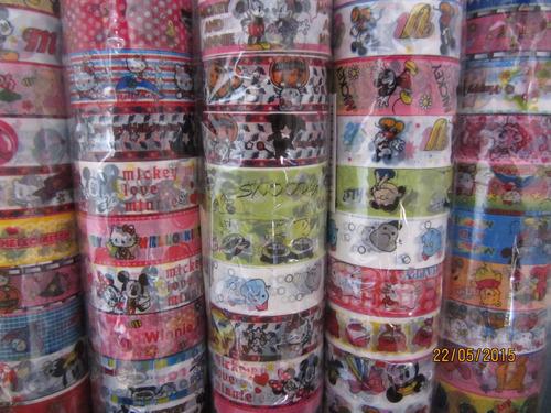 washi tape x 10 unidades. rollos surtido motivos infantiles