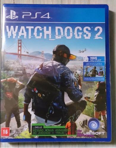 watch dogs 2 ps4 em português mídia física + dlc lacrado