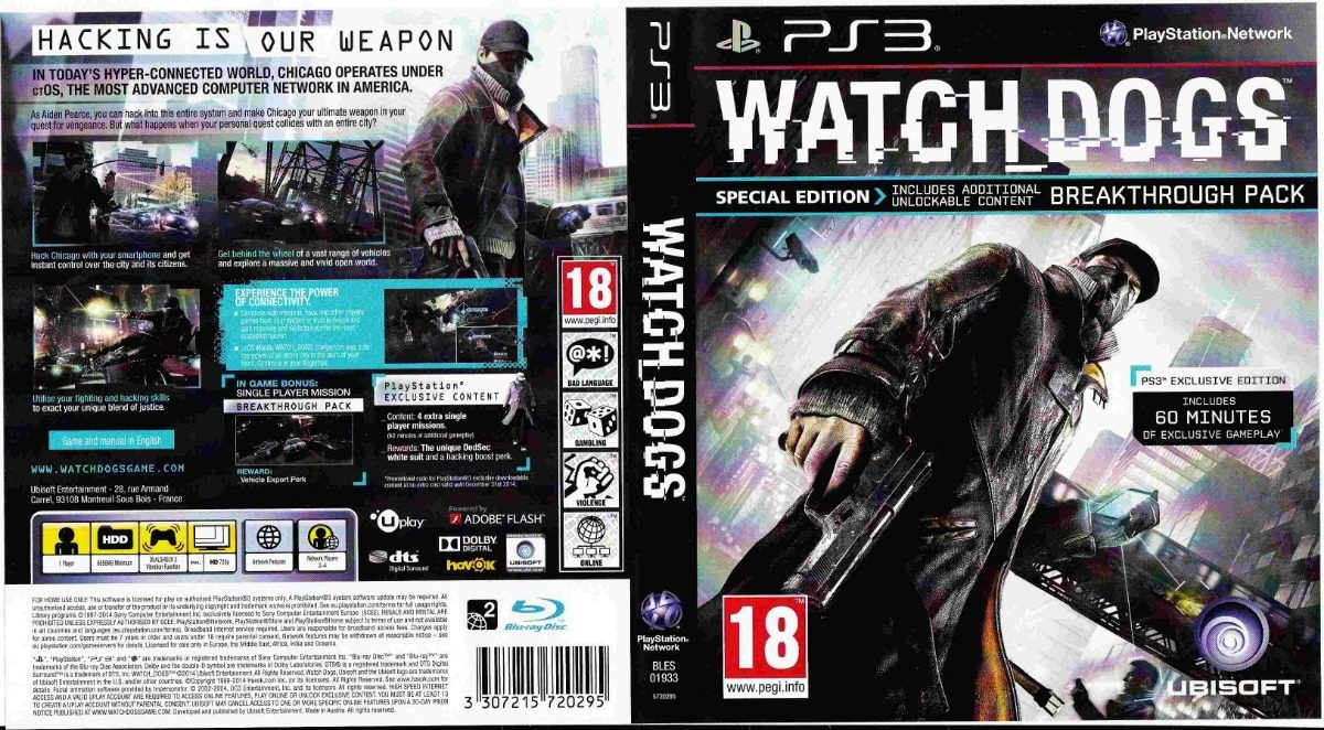 Watch Dogs Ps3 Fisico