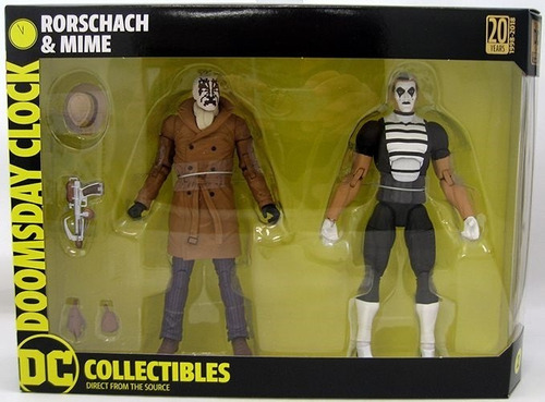 watchmen doomsday clock rorschach & mime pack 2018 dc
