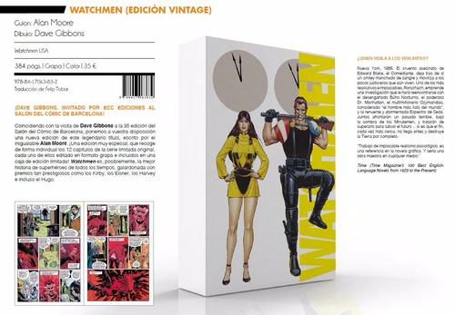 watchmen edicion vintage limitada alan moore comic español