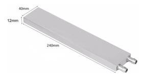 Water Block Waterblock Aluminio P/ Water Cooler 12x40x240mm
