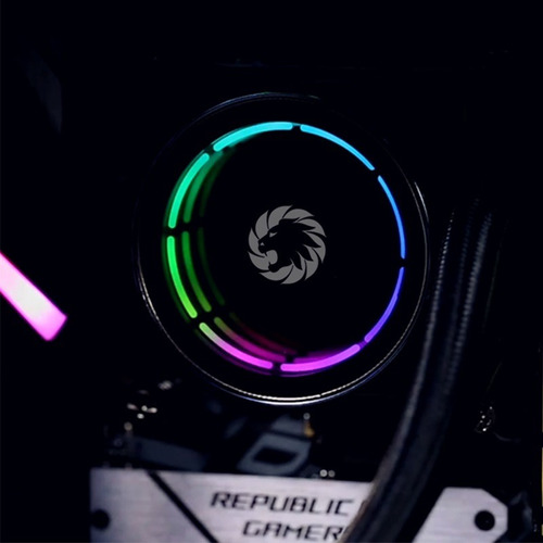 water cooler argb 2-fan gamemax ice chill 240 +contr remoto