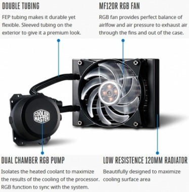 water cooling gamer cooler masterliquid ml120l rgb 1151 am4