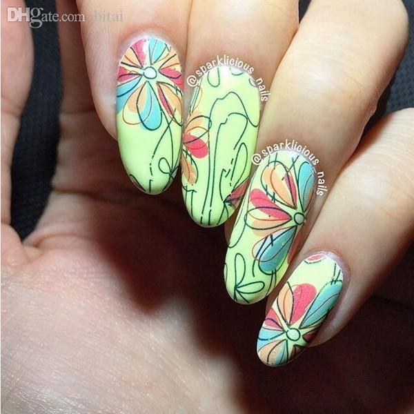 Atractivo Uñas De Los Diseños Florales Inspiración - Ideas Para ...