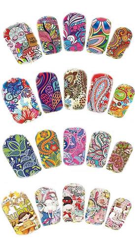 water decals para uñas - nail art