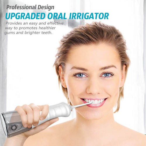 water flosser professional irrigador bucal inalam. bco/neg/a