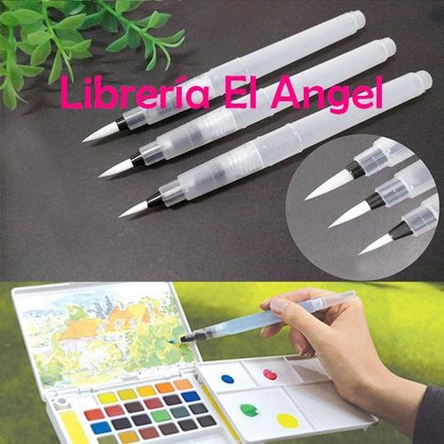 waterbrush pincelesgruesos aplicador agua artmate watercolor