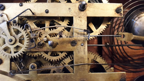 waterbury clock company ,maquina sellada junio 1874