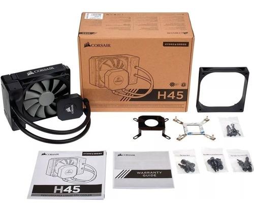 watercooler h45 corsair hydro series 120mm, modelo: cw-90600