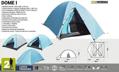 waterdog personas camping carpa iglu