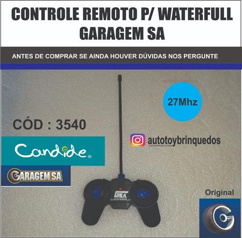 waterfull 3540 - garagem sa - só o controle remoto 27mhz