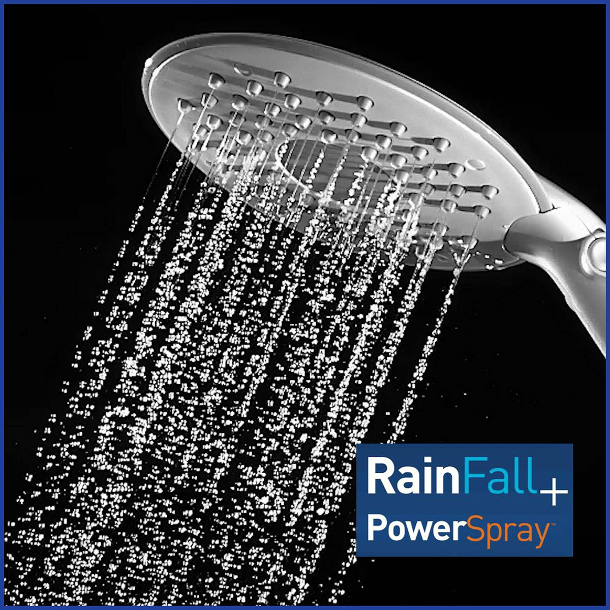 Rainfall Rain Shower New 6 Mode Shower Head W Flexible Neck
