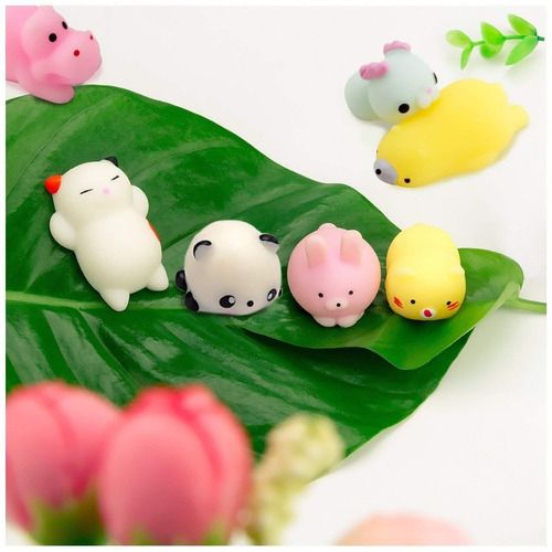 watinc 30 piezas linda animal mochi squishy kawaii mini suav