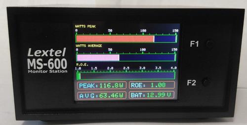 wattímetro rf digital monitor station lextel ms-600 roe swr