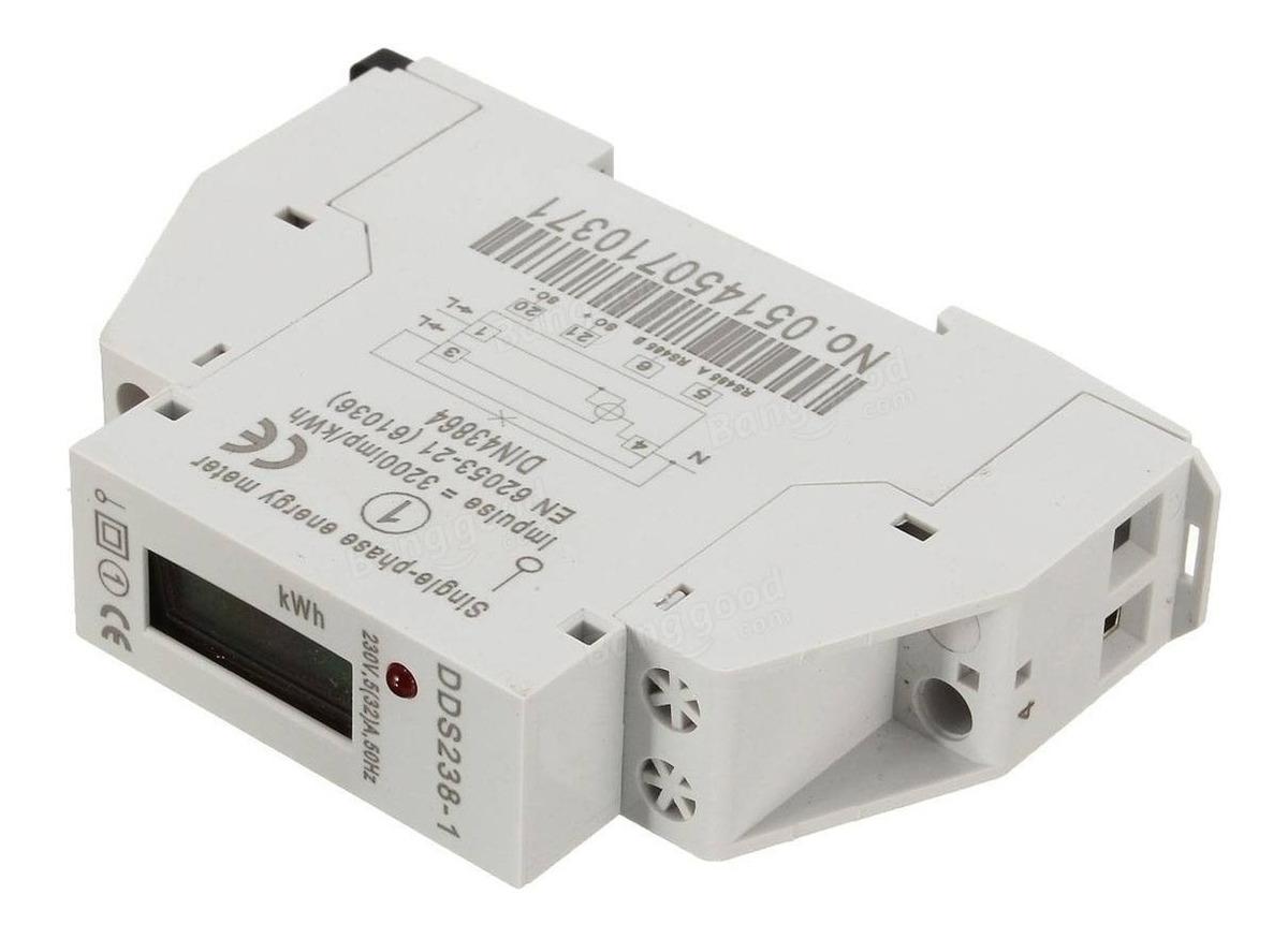 30 Medidor de corriente alterna medidor de electricidad Vatímetro 5 A Para Riel