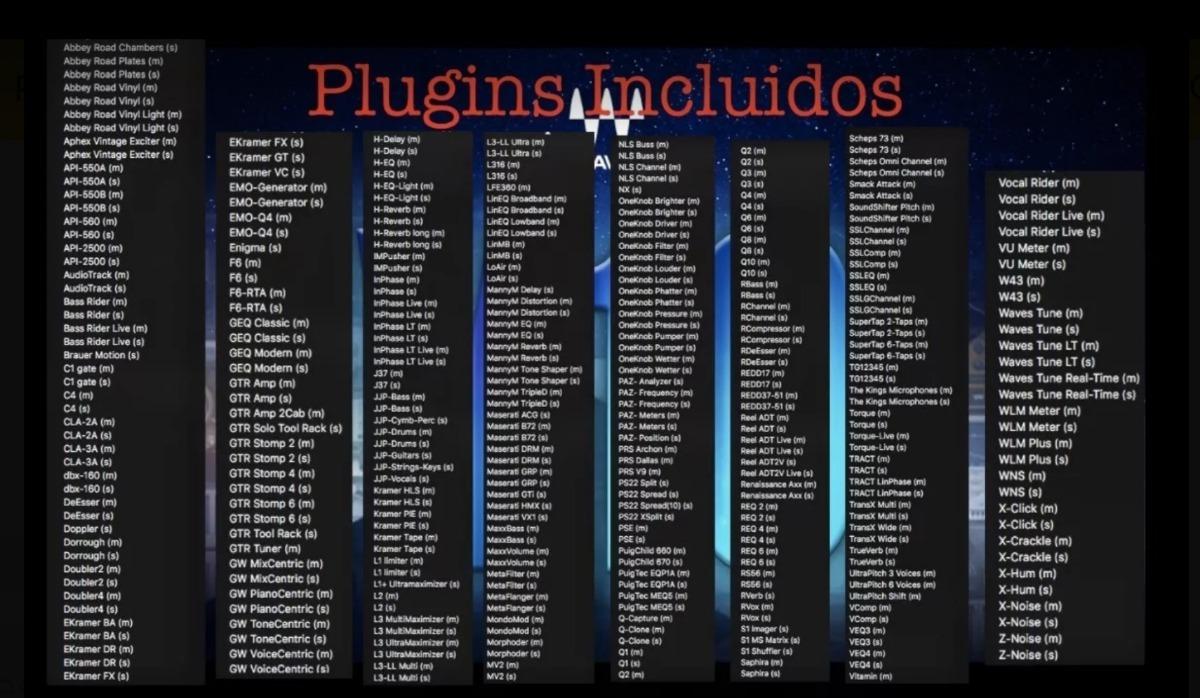Waves Complete Plugins V10 (vst Win/ Mac/ Cubase/ Logic) - $ 7 990