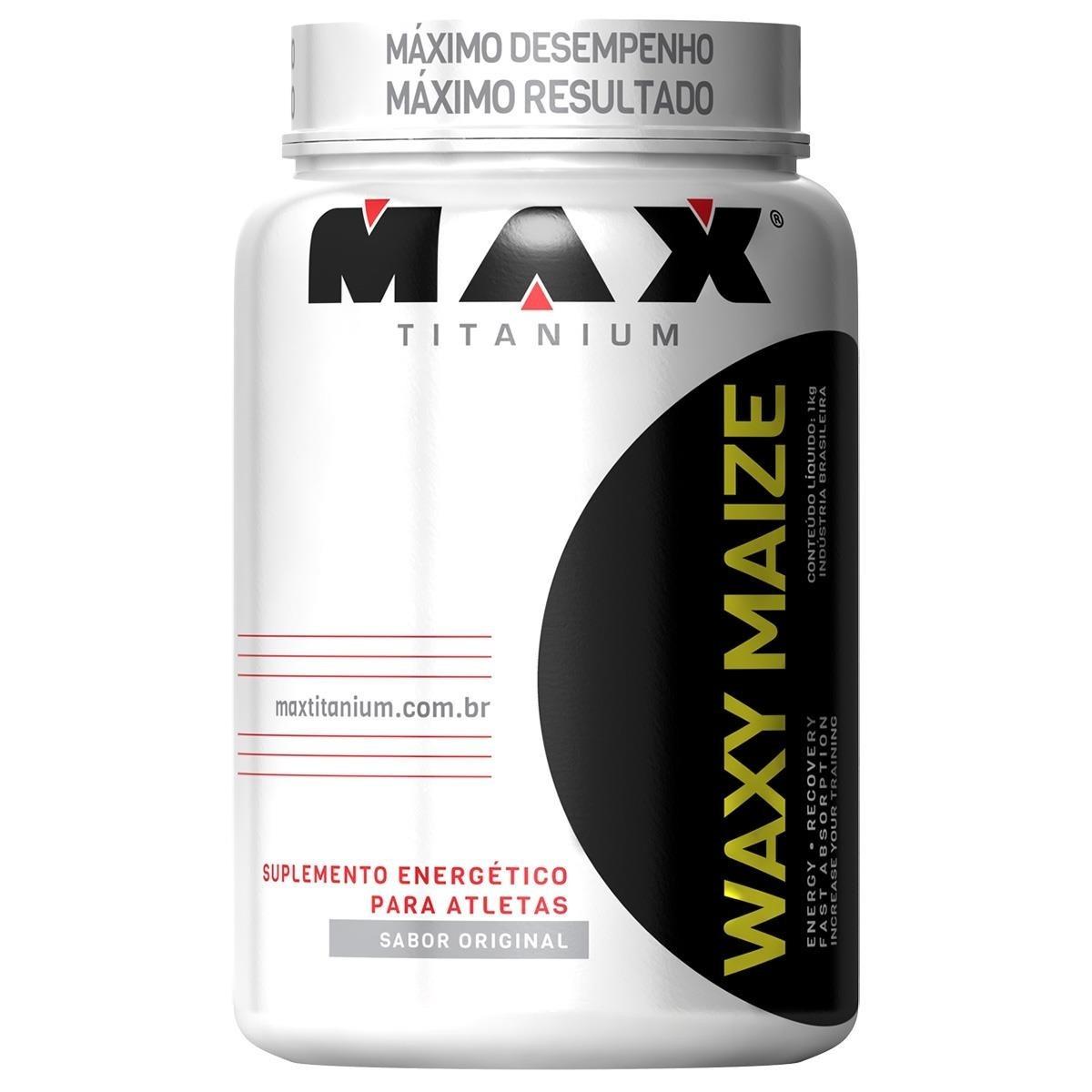 b60e6597c Waxy Maze Whey Maize Barato Max Titanium - 1kg - Promoção - R  47