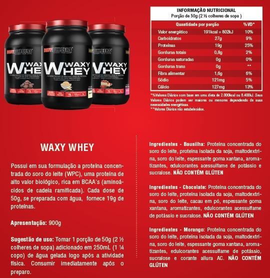 7b756a327 Waxy Whey Protein 900g - Bodybuilders - R  39
