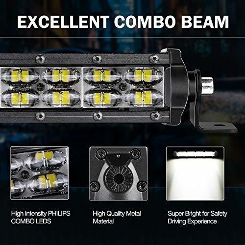 wayup barra de luz led de 4 a 6 pulgadas