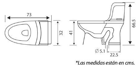 Wc one piece alargado dual flush sanitario ba o inodoro for Medidas de sanitarios